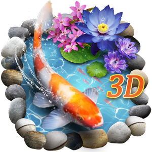 3D Koi Fish Theme & Lively 3D Ripple Effect For PC (Windows & MAC)