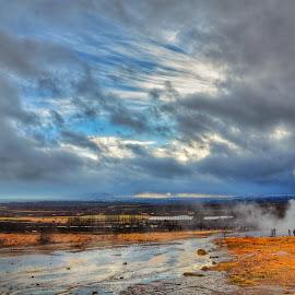 Geyser in Iceland by Alex Mednick - Landscapes Travel