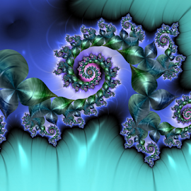 Island of tranquility by Cassy 67 - Illustration Abstract & Patterns ( digital, harmony, classic, fractal art, abstract art, modern, trendy, fractal, abstract, fractals, digital art, energy )