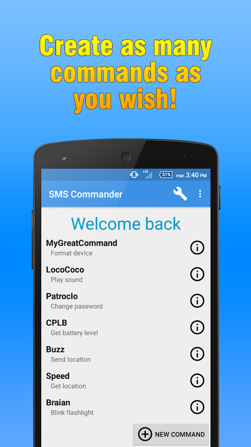 SMS Commander Screenshot 3