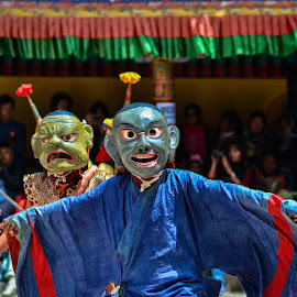 Mask Dance, Hemis Festival, Leh, June 2018 by Manabendra Dey - People Musicians & Entertainers ( monastery, hemis, festival, buddha, culture, ladakh, leh )