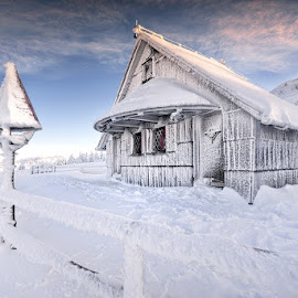 Winter fairytale by Cvetka Zavernik - Buildings & Architecture Public & Historical ( winter, cold, the signpost, ice, snow )