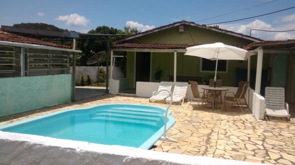 Chácara com 3 dormitórios à venda ou permuta, 2000 m² por R$ 200.000 - Juquitiba/SP