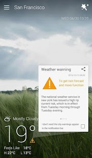 App GO Weather Forecast & Widgets version 2015 APK