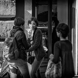 Girls of Rom by Jose Hernan Cibils - City,  Street & Park  Street Scenes ( child, girls, rom, street )