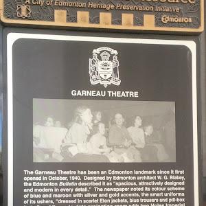 read the plaque garneau theatre edmonton municipal. Black Bedroom Furniture Sets. Home Design Ideas
