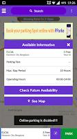 Screenshot of Pparke-Parking App