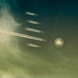 Kohti kuuta by Niina Hakkarainen - Digital Art Things