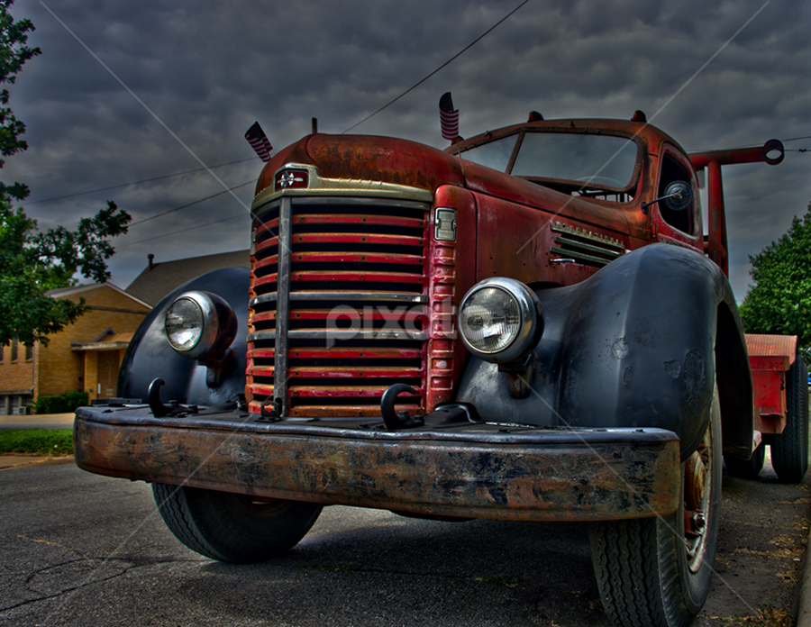 Old Truck by Jack Powers - Transportation Other ( hdr, truck, vintage )