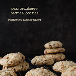 Pear Cranberry Toffee Oatmeal Cookies
