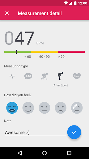 Runtastic Heart Rate Monitor & Pulse Checker screenshot 3