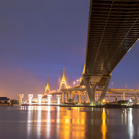 bridge bhumibol by Asher Lwin - Buildings & Architecture Bridges & Suspended Structures ( bangkok, bhumibol, thailand, bridge bhumibol, bridge )