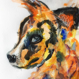 Puppy by Jeanne Knoch - Painting All Painting