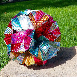 Holographic Gem by Riley Poeschl - Novices Only Objects & Still Life ( holographic, paperart, origami )
