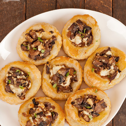 Mushroom and Goat Cheese Pastry Bites