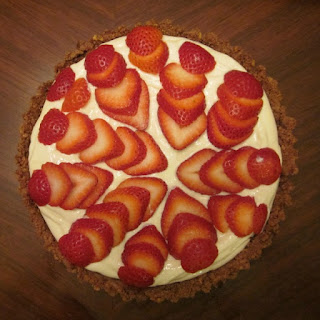 Strawberry Greek Yogurt Icebox Pie