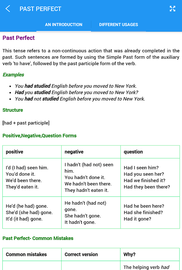 English Tenses Screenshot 8