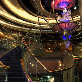 H A L Westerdam by Dennis McClintock - Buildings & Architecture Architectural Detail ( staircases, ladders, staircase contest, steps, westerdam ship )