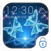 App Blue shine butterfly theme APK for Windows Phone