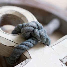Knotted by Danielle Cassidy - Artistic Objects Other Objects ( pastel, shallow dof, blue, lines, knot )