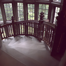 Staircase  by Lorraine D.  Heaney - Buildings & Architecture Architectural Detail