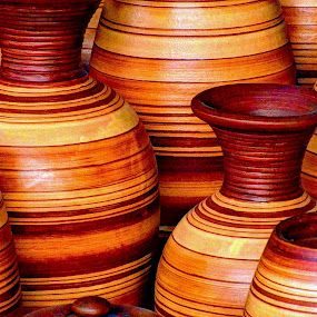 Terracotta Vases by Hussin Mohd Nor - Artistic Objects Other Objects ( vases, terracotta )