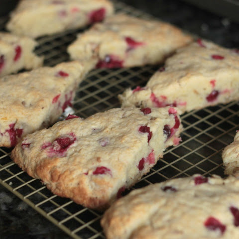 Cranberry & Walnut Scones with a Vanilla Bean Glaze