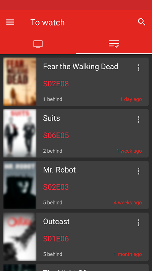 SERIST - Your TV Show Tracker Screenshot 1