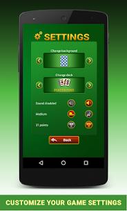 Tresette free apk screenshot