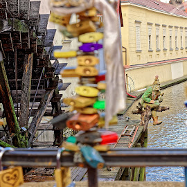 Behind lockers by Michaela Firešová - Buildings & Architecture Public & Historical ( watter mill, certovka, watter sprite, lockers )