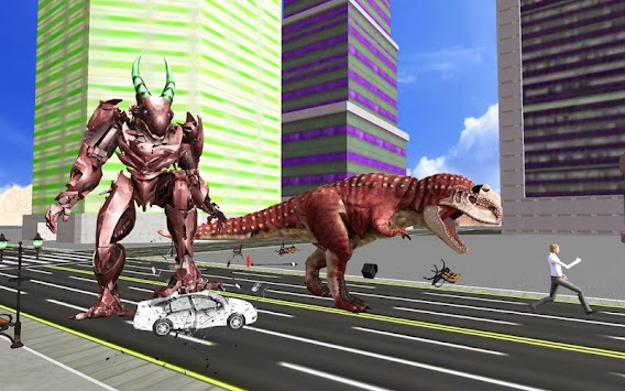 Super Dinosaur Attack Dino Robot Battle Simulator APK screenshot thumbnail 5