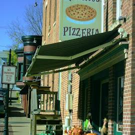 Galena's Best Pizzeria by Kathy Rose Willis - City,  Street & Park  Markets & Shops ( galena, illinois, pizza, tourism, pizzeria )
