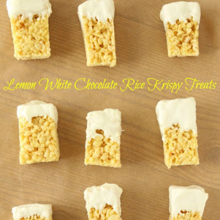 Lemon White Chocolate Rice Krispy Treats