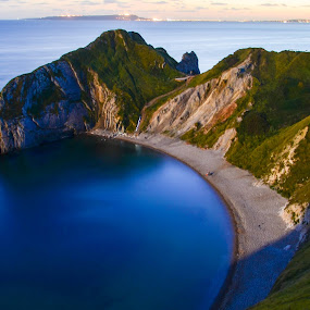 Durdle door by Mohammed Hashmi - Landscapes Mountains & Hills ( blue, dorchester, sea, jurassic coast, durdle door, landscape )