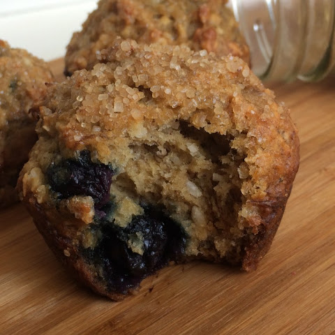 Banana, Blueberry and Cardamom Muffins