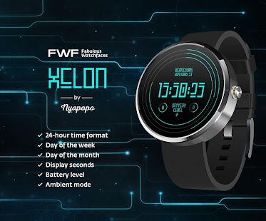 Xelon Digital Watch Face FWF