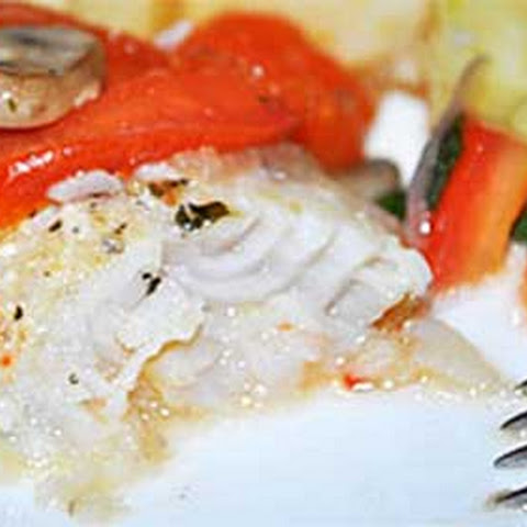 Baked Tilapia with Mushrooms and Tomatoes
