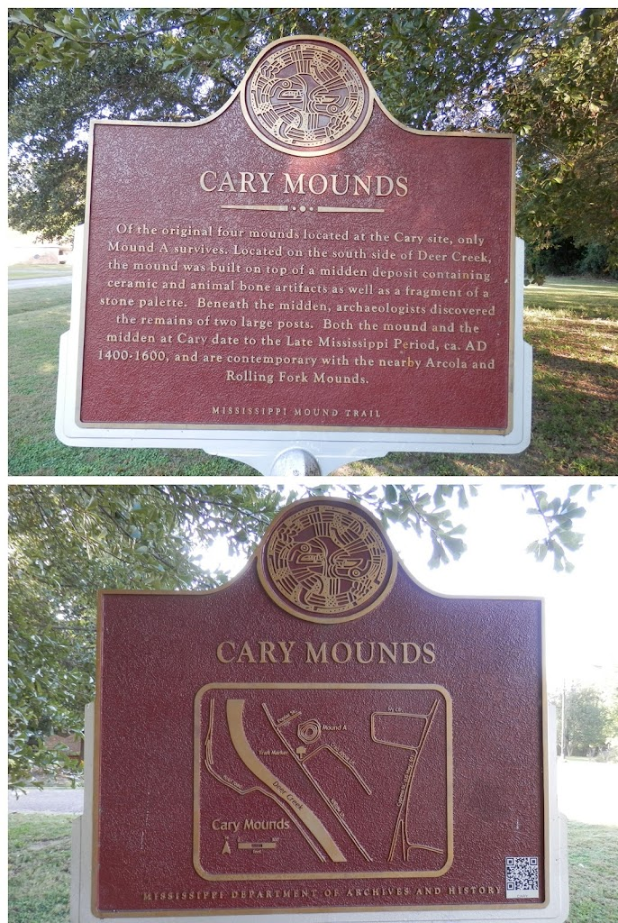 Of the original four mounds located at the Cary site, only Mound A survives. Located on the south side of Deer Creek, the mound was built on top of a midden deposit containing ceramic and animal bone ...