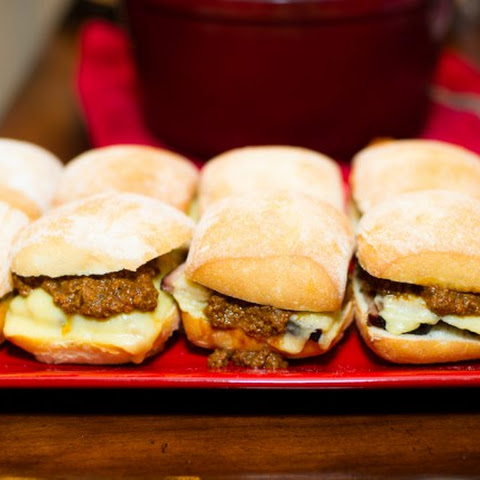 Beef Brisket Sliders with Chili