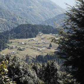 The vilage Samandeen by Snehasis Daschakraborty - Landscapes Mountains & Hills ( himalaya, village )