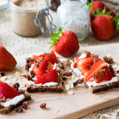 Strawberry and Granola Open Faced Faced Sandwich
