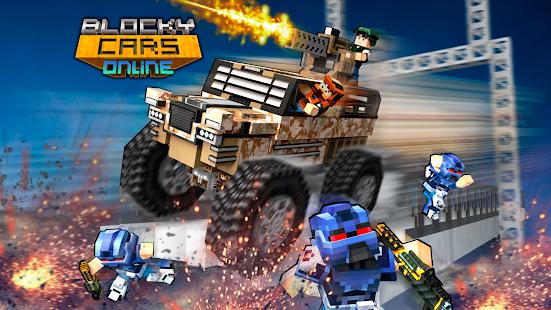 Blocky Cars Online Shooter FPS APK for Bluestacks