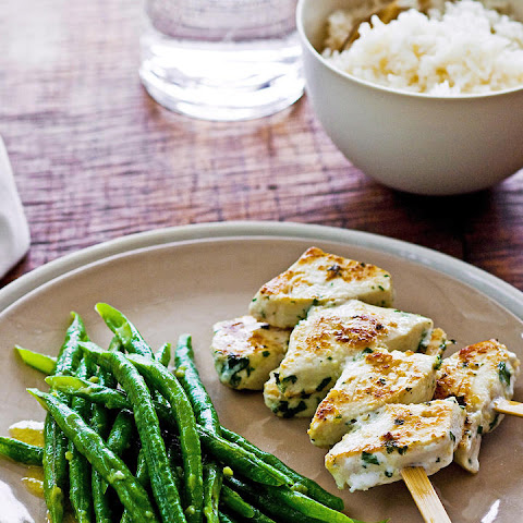 Swordfish Kebabs with Wasabi Green Beans