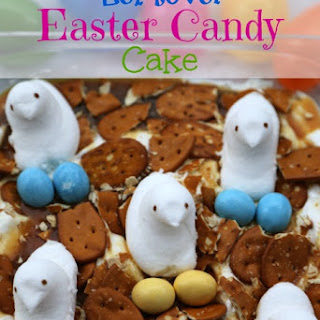 Leftover Easter Candy Cake