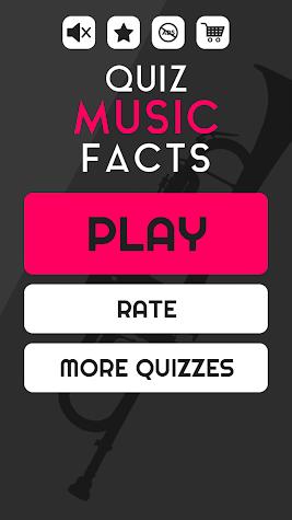 Music Facts Quiz - Free Music Trivia Game Screenshot