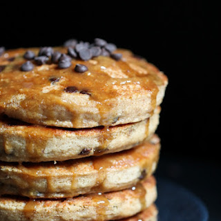 Peanut Butter Chocolate Chip Cookie Pancakes