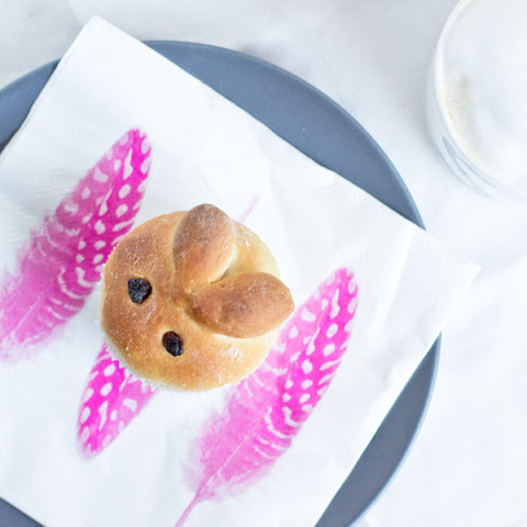 Brioche bunnies for your Easter brunch.