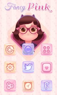 Fancy Pink GO Launcher - screenshot