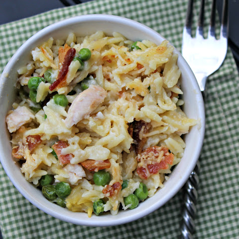 Cheesy Chicken and Orzo Casserole