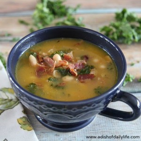 Ham Bone Soup with white beans and kale